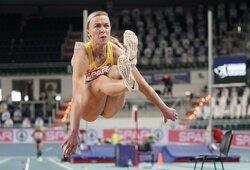 Du kartus karjeros rekordą gerinusi J.Petrokaitė liko per 2 cm nuo Europos čempionato finalo