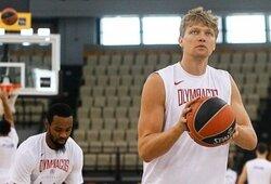 """Oficialiai su """"Lokomotiv-Kuban"""" klubu sutartį pasirašęs M.Kuzminskas pasisakė ir apie pasikeitusią padėtį """"Olympiacos"""""""