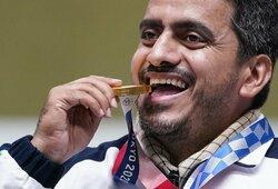 Skandalas Tokijo olimpiadoje: auksą laimėjo teroristų šaulys?