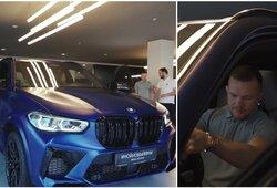 Išskirtinė galimybė P.Janui: tapo pirmu rusu, vairuosiančiu retą BMW automobilį