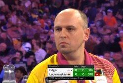 D.Labanauskui nepavyko patekti į prestižinį smiginio turnyrą