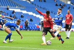 """Neįtikėtina drama Anglijoje: įspūdingas M.Rashfordo solo reidas, 95-ą minutę """"Brighton"""" išlygintas rezultatas ir """"Man United"""" pergalė po 11 metrų baudinio"""
