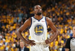 """Nesugrįžtantis K.Durantas pykdo """"Warriors"""" žaidėjus"""