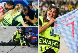 """C.Ronaldo smūgį į pakaušį gavusi moteris: """"Kai pamačiau Cristiano, galvos skausmas praėjo"""""""