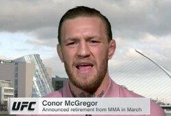 C.McGregoro išpažintis: buvęs UFC čempionas apgailestauja dėl incidento Airijos bare, kalbėjo apie būtinybę susigrąžinti pagarbą ir grįžti į kovas