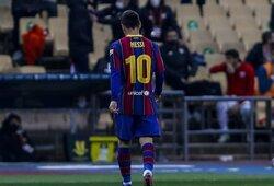 Paaiškėjo, kokios bausmės už raudoną kortelę sulaukė L.Messi