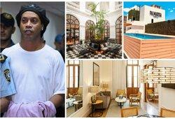 """Pasižvalgykite: kaip atrodo apartamentai, kuriuose """"namų areštą"""" atliks Ronaldinho"""
