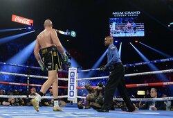 Kova dėl sunkiasvorių bokso pasaulio čempiono diržo: D.Wilderis – T.Fury (5 raundas, GYVAI)