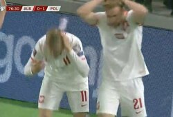 Pasaulio čempionato atrankos rungtynes teko stabdyti: į lenkų žaidėjus skriejo albanų buteliai
