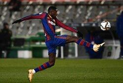 """Dviejų 11 m baudinių nerealizavusi """"Barcelona"""" po pratęsimo žengė į kitą Ispanijos Karaliaus taurės etapą"""