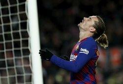 """Kamuoliu nesidalinusi """"Barcelona"""" išvargo pergalę Ispanijos taurėje: prieš trečios lygos komandą laimėjo paskutinę akimirką"""
