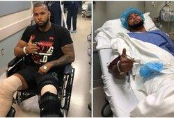 """UFC naujienos: gydytoją be žado palikusiam Th.Santosui operuotos abi kojos, """"Kaubojus"""" kausis su J.Gaethje"""