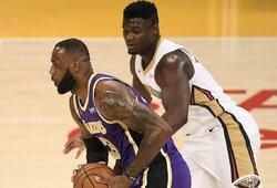 """Los Andžele – L.Jameso ir Z.Williamsono akistata bei """"Lakers"""" pergalė"""