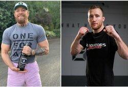 """UFC palikti pagrasinęs J.Gaethje apie C.McGregorą: """"Gera matyti, kaip šūdo gabalas nuleidžiamas žemyn"""""""
