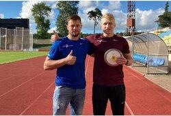 V.Aleknos sūnus pagerino Lietuvos 17-mečių disko metimo rekordą