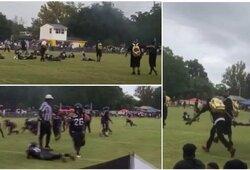 Šiurpus išpuolis amerikietiško futbolo rungtynėse – nušautas vyras