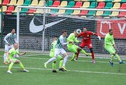 "Lietuvos futbolo A lygoje įvykusiame Vilniaus derbyje triumfavo ""Riteriai"""