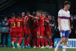 Euro 2020: R.Lukaku pelnė dublį, o Belgijos rinktinė sutriuškino rusus