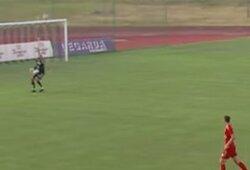 Pamatykite: LFF taurės aštuntfinalio rungtynėse buvo pelnytas kurioziškas įvartis į savus vartus