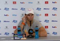 """R.Nadalį įsiutino žurnalisto klausimas: """"Tu manęs tikrai to klausi? Tai yra mėšlas"""""""