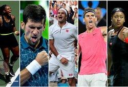 10 daugiausiai uždirbančių pasaulio tenisininkų: lyčių lygybė ir įspūdinga beveik nežaidžiančio R.Federerio persvara