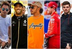 """Sezono starto belaukiant: visų 2020 m. """"Formulės 1"""" lenktynininkų algos"""