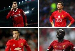 """10 kovų tarp """"Man Utd"""" ir """"Liverpool"""" dėl žaidėjų – kas laimėjo?"""