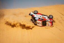 Dakaro ralis: etapas baigtas anksčiau laiko, B.Vanagas buvo greitesnis už N.Al-Attiyah, F.Alonso prarado daugiau nei valandą
