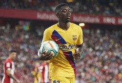 """Kitų klubų pasiūlymų sulaukęs O.Dembele liks rungtyniauti """"Barcelonoje"""""""