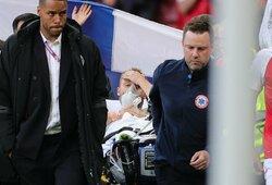 Ch.Erikseno būklė stabilizuota, jis pats paprašė komandos draugų tęsti rungtynes
