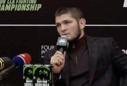 """C.Nurmagomedovo atsakas UFC prezidentui: """"Kol aš čempionas – C.McGregoras nesikaus dėl titulo"""""""