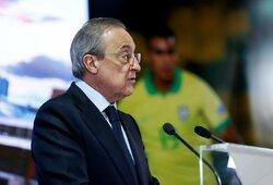 """""""Real"""" prezidentas pasakė, kaip """"Superlyga"""" išgelbės futbolą ir atsakė į UEFA grasinimus"""