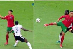 C.Ronaldo vakaras: nuo nuostabaus triuko prieš A.Rudigerį iki klaidos lygioje vietoje
