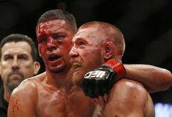 """C.McGregoras pasveikino N.Diazą su puikia kova ir išreiškė viltį, kad jie susikaus ir trečią kartą: """"Tai motyvavo mane patį sugrįžti"""""""