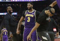 """""""Lakers"""" ir be L.Jameso iškovojo didžiausią sezono pergalę"""