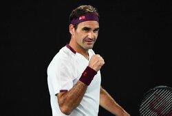 """Po prasto starto atsigavęs R.Federeris – """"Australian Open"""" ketvirtfinalyje, kur jo lauks staigmenas kuriantis amerikietis"""
