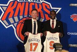 """""""Knicks"""" komandai RJ Barretto ir I.Brazdeikio pristatymas uždirbo solidžią baudą"""