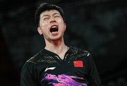 Geriausio visų laikų stalo tenisininko triumfas sutvirtino kinų pozicijas medalių įskaitoje