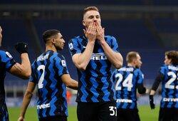 """M.Skriniaro įvartis padovanojo """"Inter"""" pergalę prieš """"Atalanta"""""""