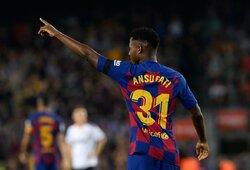 """Triuškinamoje """"Barcelona"""" pergalėje – dar vienas jaunojo A.Fati įvartis"""