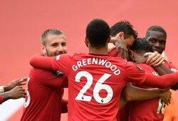 """H.Maguire'as padarė vaikišką klaidą, tačiau 5 įvarčius pelnęs """"Man Utd"""" iškovojo pergalę"""