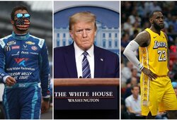 D.Trumpas pareikalavo kilpą radusio lenktynininko atsiprašyti, L.Jamesas stojo į B.Wallace'o pusę