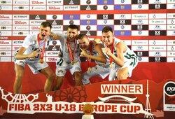 Lietuvos jaunių 3x3 krepšinio rinktinė patiesė Prancūziją ir laimėjo Europos čempionatą!