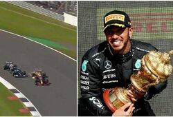 """51G apkrovą patyrusiam M.Verstappenui užkliuvo L.Hamiltono šventimas: """"Tai nepagarbu ir nesportiška"""""""