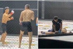 Kirgizo šou MMA narve: vidurinis pirštas varžovui ir nokautas po sekundės