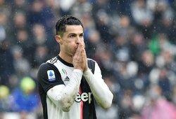 Pamatykite: C.Ronaldo blokavo pergalingu galėjusį tapti P.Dybalos smūgį