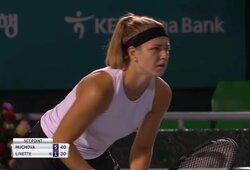 K.Muchova dominavo finale ir pirmą kartą karjeroje laimėjo WTA vienetų turnyrą