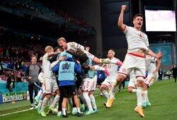 Įspūdingą pergalę iškovoję danai –Europos čempionato atkrintamosiose, sutriuškinti rusai –eliminuoti