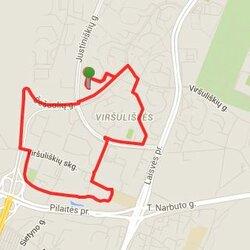 Bėgimo trasa Viršuliškėse