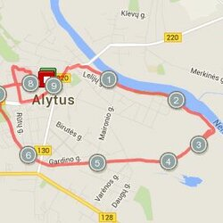9.19 km. trasa Alytuje